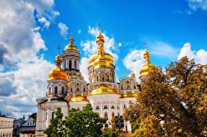 Фото Украина Храмы Небо Киево-Печерская Лавра Города