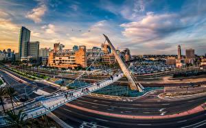 Фото США Дома Дороги Мосты Сан-Диего город