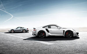 Обои Порше Тюнинг Сбоку Двое 2014 Top Car Stinger GTR (Porsche 911 991 Turbo S) авто