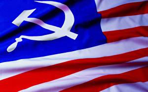 Картинки США Флаг Серп и молот Полоски СССР Смешные