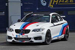 Картинки BMW Тюнинг Белый 2014 M235i (Tuningwerk) Автомобили