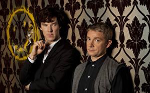 Картинки Мужчина Камбербэтч Бенедикт Sherlock, Martin Freeman кино Знаменитости