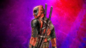 Фотография Герои комиксов Deadpool герой Катана Сабли Фэнтези