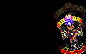 Картинки Черепа Крест Guns N Roses Музыка