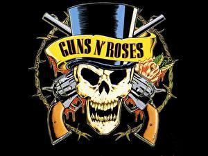Картинки Черепа Пистолеты Guns N Roses