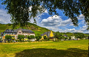 Фотография Германия Здания Эдигер-Эллер Трава Города