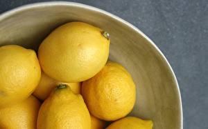 Картинка Цитрусовые Лимоны Вблизи