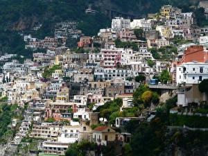 Картинки Италия Дома Амальфи город