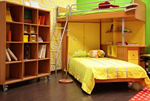 Фотография Интерьер Детская комната Кровать Комната