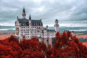 Картинка Замки Германия Нойшванштайн Бавария Города