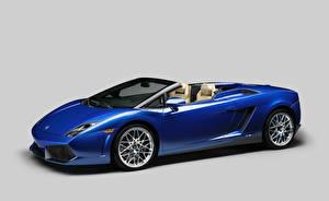 Обои Lamborghini Тюнинг Синяя Кабриолет Дорогие Металлик 2011 Gallardo LP550-2 spyder Авто