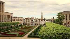 Обои Бельгия Здания Сады Brussels Города