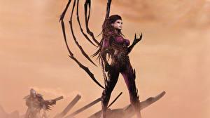 Фотография StarCraft StarCraft 2 Сверхъестественные существа Воин Сара Керриган Queen of Blades компьютерная игра Фэнтези