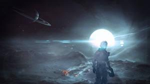 Картинки Dead Space Воины Isaac Clarke Игры Фэнтези