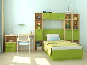 Фотографии Интерьер Детская комната Кровать Дизайн Стулья