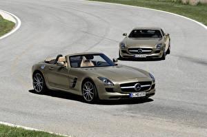 Фотографии Mercedes-Benz Металлик Кабриолет Родстер 2011 SLS AMG roadster
