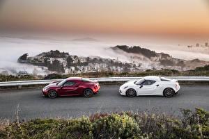Картинка Альфа ромео Дороги Металлик 2015 4C Автомобили