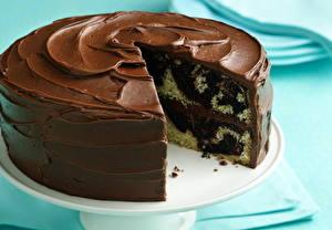Фотография Сладкая еда Торты Шоколад Пища
