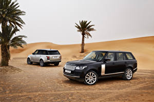Фотография Range Rover Пустыня Две Пальма Металлик 2013 Range Rover машина