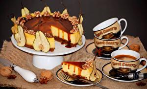 Фотографии Сладкая еда Торты Орехи Чашка Продукты питания