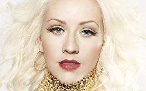 Фотографии Christina Aguilera Лицо Взгляд Блондинка Волосы Серьги Знаменитости Девушки