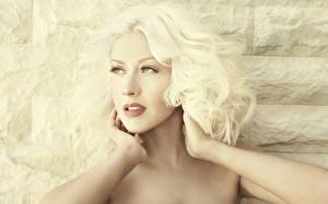 Фотография Christina Aguilera Лицо Блондинка Волосы Музыка Знаменитости Девушки