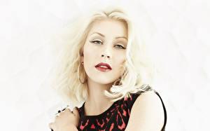 Обои Christina Aguilera Лицо Смотрит Блондинка Красивые Знаменитости Девушки