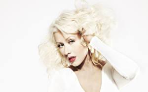 Фотографии Christina Aguilera Лицо Взгляд Блондинка Волосы Знаменитости Девушки