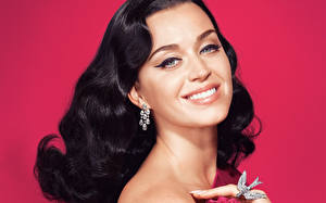 Картинки Katy Perry Лицо Взгляд Брюнетка Волосы Улыбка Знаменитости Девушки