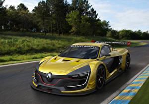 Обои Renault Тюнинг Желтые 2014 R.S. авто