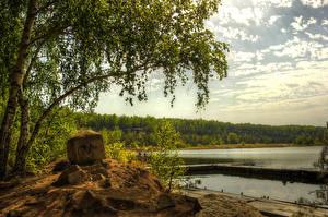 Картинки Россия Речка Берег Деревьев Урал Природа