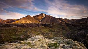 Картинки Исландия Горы Landmannalaugar Природа
