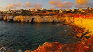 Картинки Республика Кипр Берег Здания Pegeia Города