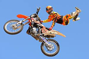 Картинки Мотоциклист Спорт Мотоциклы
