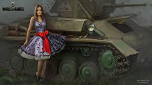 Фотография WOT Танки Платья Nikita Bolyakov Игры Девушки