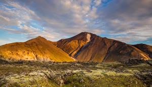 Фотография Исландия Горы Небо Природа