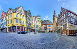 Фото Германия Дома Дороги Кохем Улиц Города