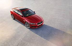 Картинка Jaguar Красных Металлик Сверху 2014 XE автомобиль