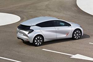Обои Renault Серебристый Вид сзади 2014 Eolab авто
