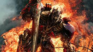 Картинки Трансформеры Огонь Optimus Prime