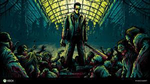 Картинки Dead Rising Зомби Кровь Frank West