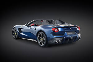 Фотографии Ferrari Тюнинг Голубые Кабриолета Сзади Роскошные 2014 F60 America автомобиль