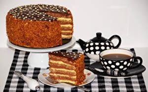 Картинки Сладости Торты Чай Чашке Тарелка Продукты питания