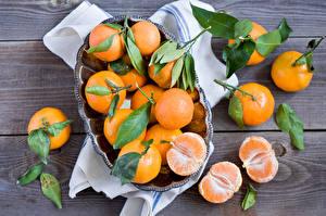 Обои Цитрусовые Мандарины Много Продукты питания
