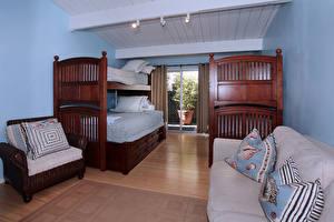 Обои Интерьер Дизайн Спальни Кровать Диван Подушки