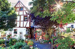 Картинки Германия Дома Сады Landkern город