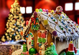 Фотография Праздники Рождество Выпечка Сладости Конфеты Торты Еда