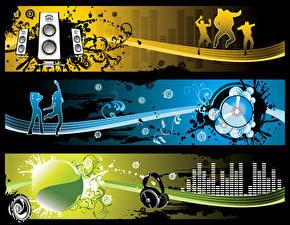Картинки Векторная графика Наушники Музыка