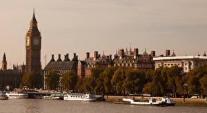 Фотография Великобритания Здания Реки Лондоне Биг-Бен