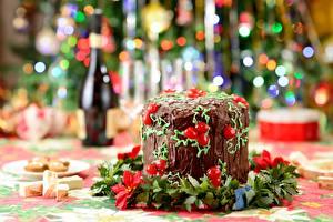 Картинки Праздники Новый год Торты Продукты питания